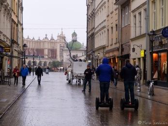 Dorożka i Segueye - takie rzeczy tylko w Krakowie ;)